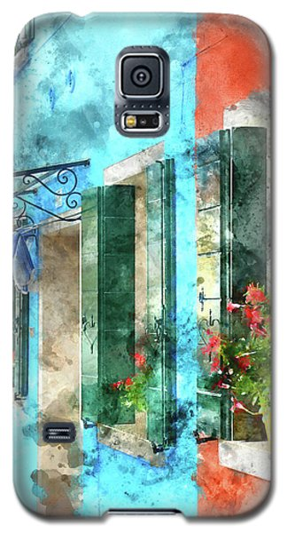 Colorful Houses In Burano Island Venice Italy Galaxy S5 Case