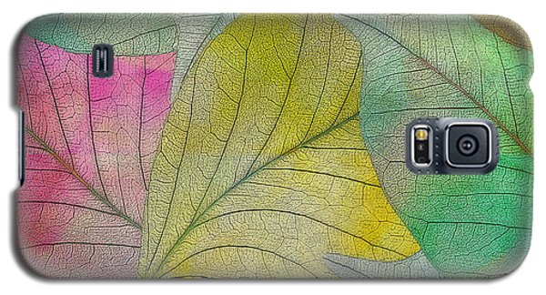 Galaxy S5 Case featuring the digital art Colorful Leaves by Klara Acel