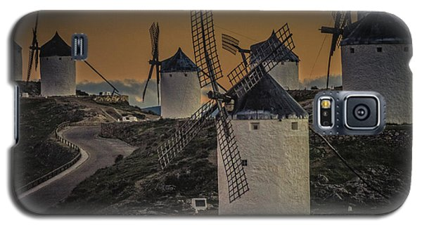 Galaxy S5 Case featuring the photograph Consuegra Windmills 2 by Heiko Koehrer-Wagner