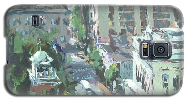 Galaxy S5 Case featuring the painting Contemporary Richmond Virginia Cityscape Painting by Robert Joyner