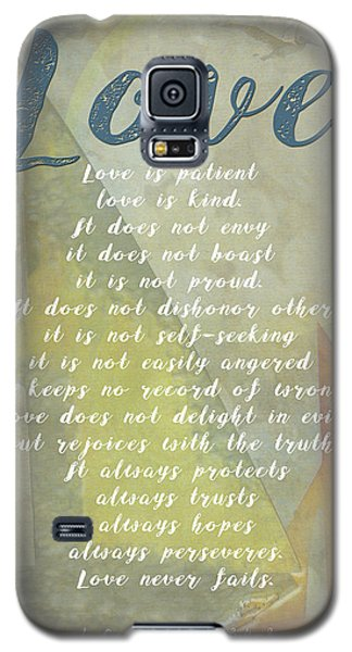 1 Corinthians 13 4-8 Love Is Patient Love Is Kind Wedding Verses. Great Gift For Men Or Home Decor. Galaxy S5 Case