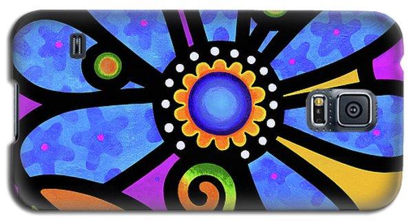 Cosmic Daisy In Blue Galaxy S5 Case