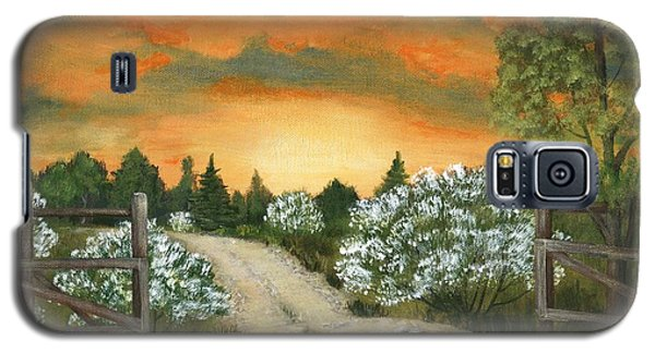 Galaxy S5 Case featuring the painting Country Road by Anastasiya Malakhova