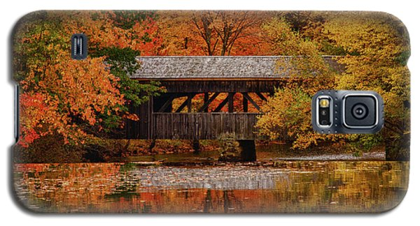 Covered Bridge At Sturbridge Village Galaxy S5 Case