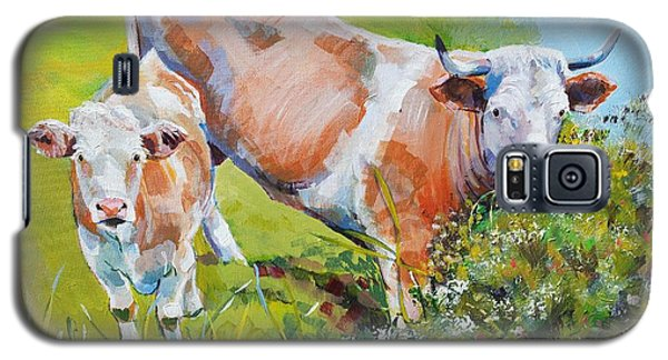 Cow And Calf Painting Galaxy S5 Case