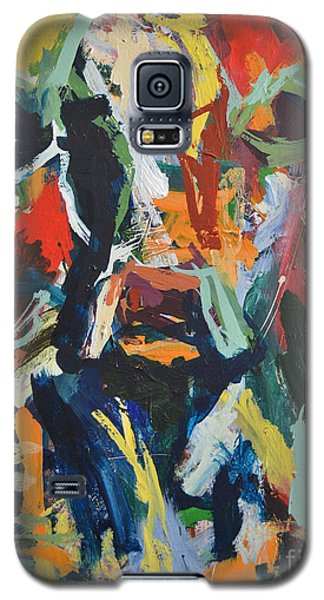 Galaxy S5 Case featuring the painting Cow Painting by Robert Joyner
