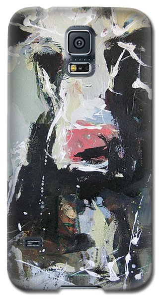 Galaxy S5 Case featuring the painting Cow Portrait by Robert Joyner