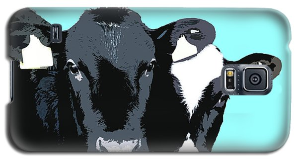 Cows - Blue Galaxy S5 Case
