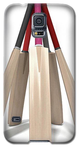 Cricket Bat Circle Galaxy S5 Case by Allan Swart