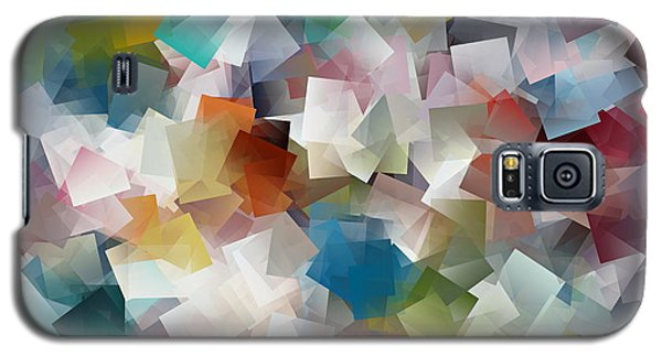 Galaxy S5 Case featuring the painting Crystal Cube by Kathy Sheeran