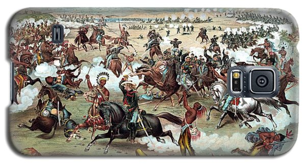 Galaxy S5 Case featuring the painting Custer's Last Stand by War Is Hell Store
