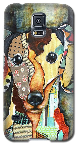 Galaxy S5 Case featuring the mixed media Dachshund by Patricia Lintner