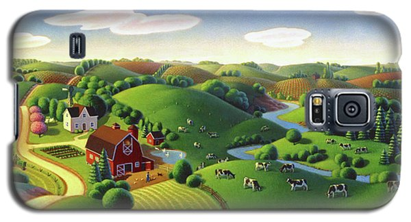 Galaxy S5 Case featuring the painting Dairy Farm  by Robin Moline