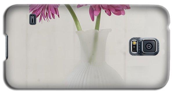 Galaxy S5 Case featuring the photograph Gerbera Daisy Love by Kim Hojnacki