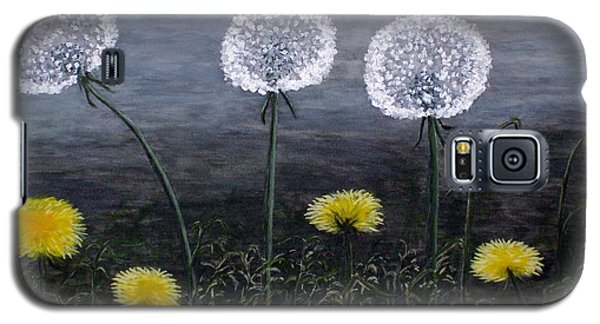 Galaxy S5 Case featuring the painting Dandelion Family by Judy Kirouac