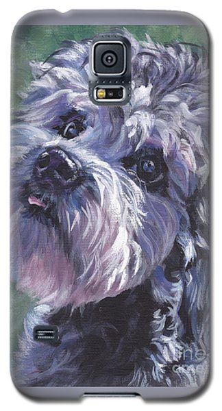 Galaxy S5 Case featuring the painting Dandie Dinmont Terrier by Lee Ann Shepard