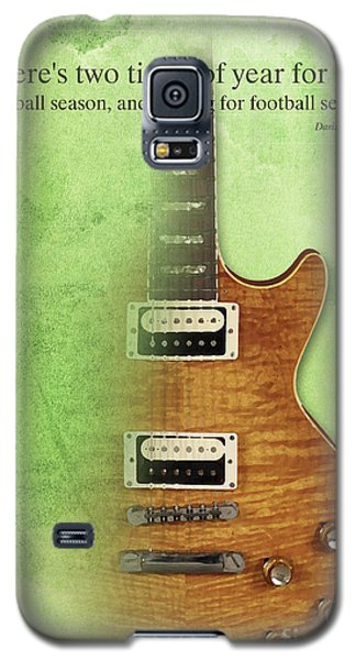 Darius Rucker Inspirational Quote, Electric Guitar Poster For Music Lovers And Musicians Galaxy S5 Case by Pablo Franchi