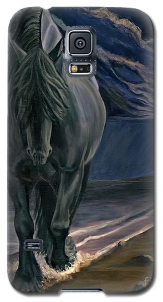 Galaxy S5 Case featuring the painting Dark Knight Of The Soul by Sheri Gordon
