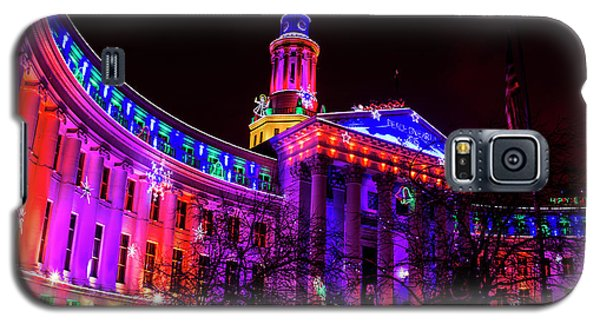 Denver City And County Building Holiday Lights Galaxy S5 Case