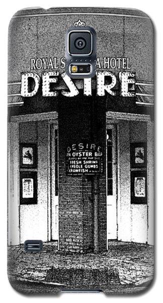 Desire Corner Bourbon Street French Quarter New Orleans Black And White Fresco Digital Art Galaxy S5 Case by Shawn O'Brien