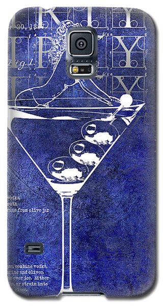 Dirty Dirty Martini Patent Blue Galaxy S5 Case