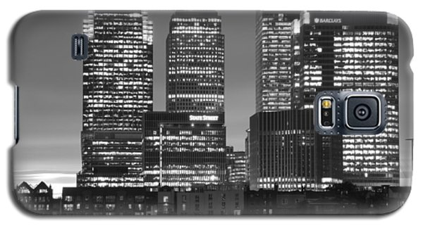 Docklands Canary Wharf Sunset Bw Galaxy S5 Case