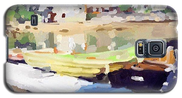 Dories At Beacon Marine Basin Galaxy S5 Case by Melissa Abbott