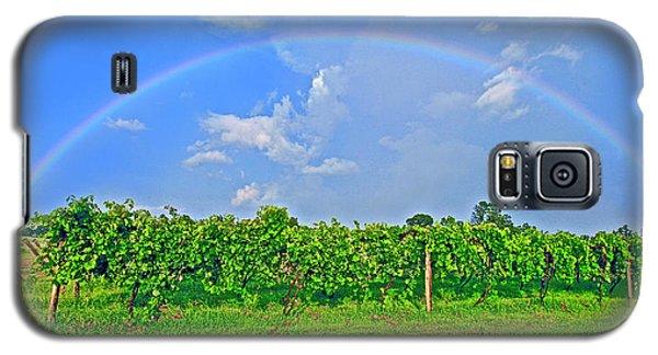 Double Rainbow Vineyard, Smith Mountain Lake Galaxy S5 Case