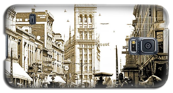 Downtown Milwaukee, C. 1915-1920, Vintage Photograph Galaxy S5 Case