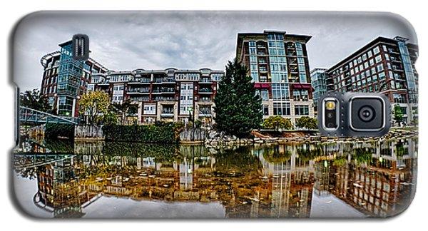 Downtown Of Greenville South Carolina Around Falls Park Galaxy S5 Case by Alex Grichenko