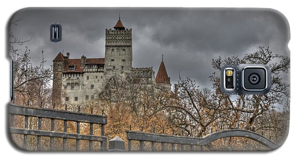Galaxy S5 Case featuring the photograph Dracula's Castle Transilvania In Hdr by Matthew Bamberg