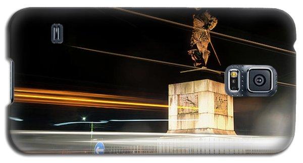 Drake's Statue Traffic Trails Iv Galaxy S5 Case