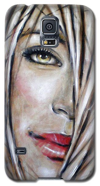Galaxy S5 Case featuring the painting Dream In Amber 120809 by Selena Boron