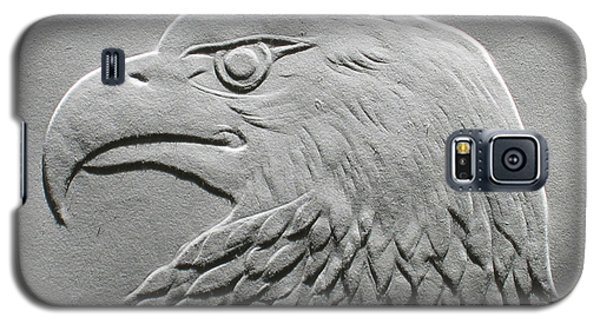Eagle Head Relief Drawing Galaxy S5 Case by Suhas Tavkar