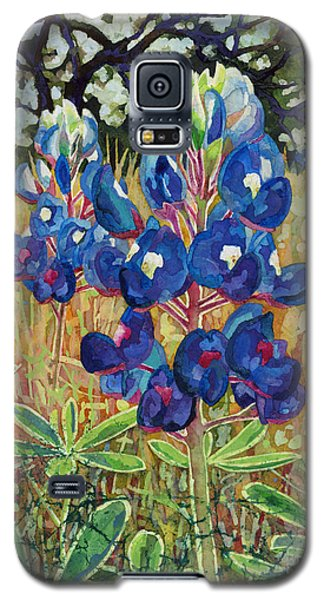 Galaxy S5 Case featuring the painting Early Bloomers by Hailey E Herrera