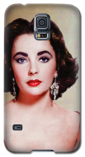 Elizabeth Taylor Hollywood Actress Galaxy S5 Case by Mary Bassett