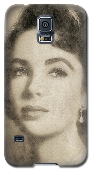 Elizabeth Taylor, Vintage Hollywood Legend By John Springfield Galaxy S5 Case
