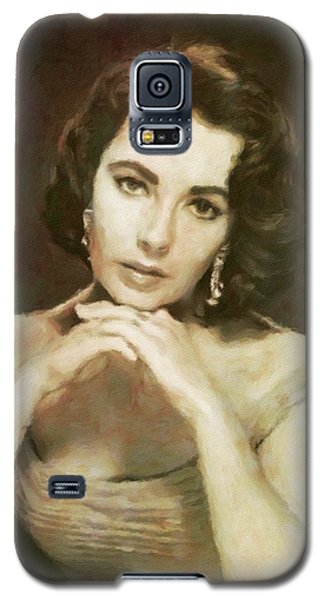 Elizabeth Taylor, Vintage Hollywood Legend By Mary Bassett Galaxy S5 Case by Mary Bassett