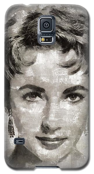 Elizabeth Taylor, Vintage Hollywood Legend Galaxy S5 Case by Mary Bassett