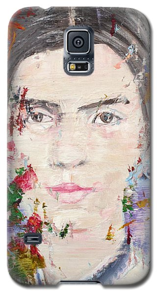 Galaxy S5 Case featuring the painting Emily Dickinson - Oil Portrait by Fabrizio Cassetta
