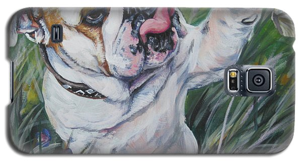 English Bulldog Galaxy S5 Case by Lee Ann Shepard