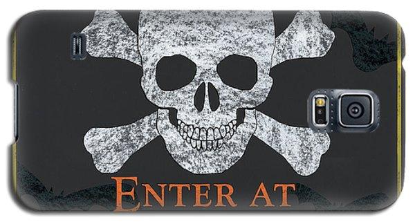 Bat Galaxy S5 Case - Enter At Your Own Risk  by Debbie DeWitt