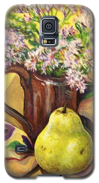 Galaxy S5 Case featuring the painting Fall Still Life by Laura Aceto