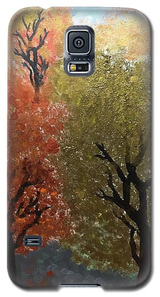 Fall Trees Galaxy S5 Case by Paula Brown
