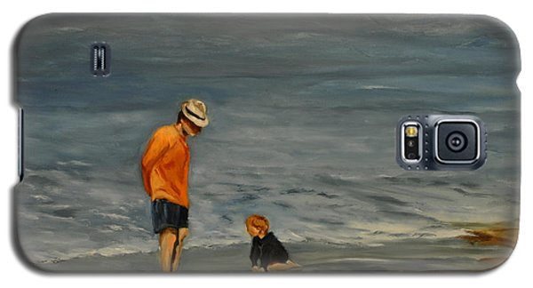 Family On Beach Galaxy S5 Case by Lindsay Frost