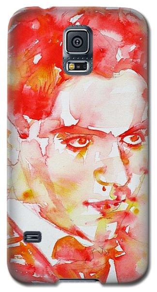 Galaxy S5 Case featuring the painting Federico Garcia Lorca - Watercolor Portrait by Fabrizio Cassetta