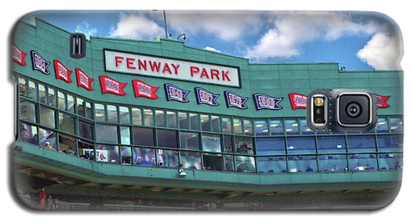 Galaxy S5 Case featuring the photograph Fenway Park by Mitch Cat