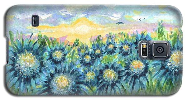 Field Of Blue Flowers Galaxy S5 Case by Holly Carmichael