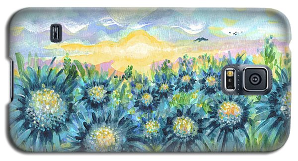 Field Of Blue Flowers Galaxy S5 Case