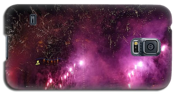Fireworks Along The Love River In Taiwan Galaxy S5 Case by Yali Shi